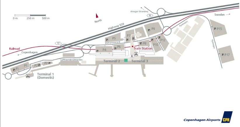 Схема аэропорта Копенгагена