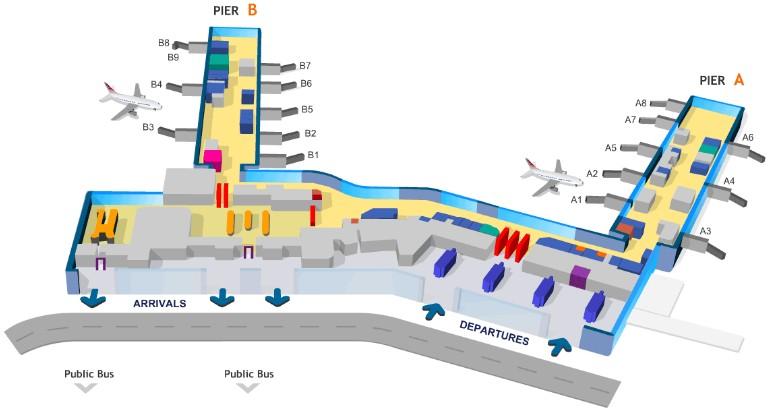 Схема аэропорта Праги.