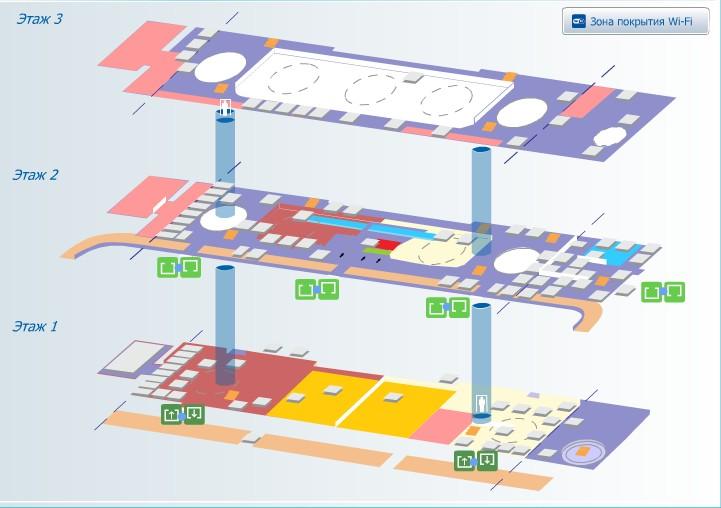 Схема терминала Пулково-1