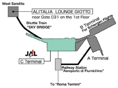 Схема аэропорта Рима (Италия)