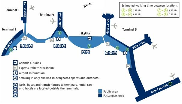 Схема аэропорта Арланда