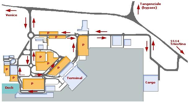 Схема аэропорта Венеции